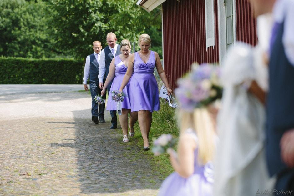 bröllopsfotograf, tärnor brudnäbbar