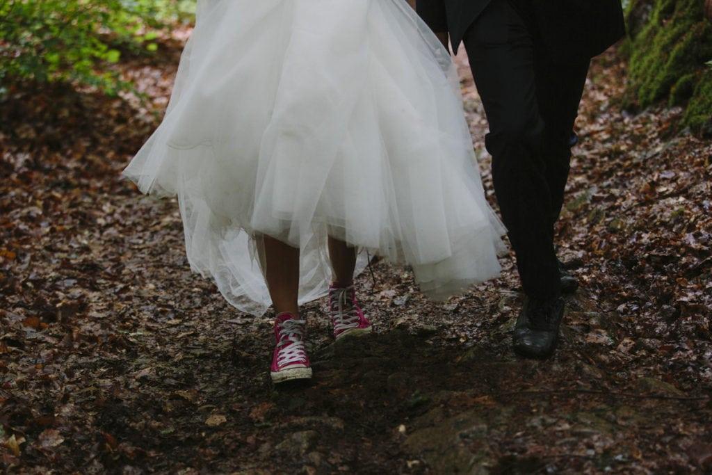 brud, spets klänning, fotografering, bröllop, Söderåsen